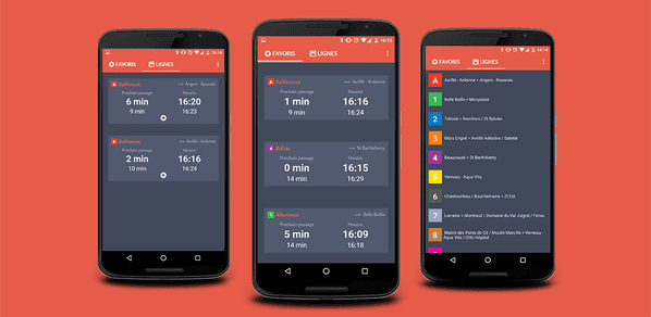 Application mobile Next Bus Angers disponible sur Google Play